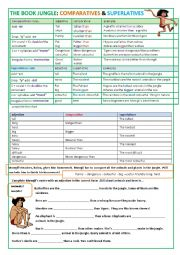 The jungle book comparatives and superlatives