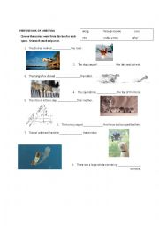 English worksheet: Prepositions of Direction