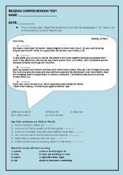English Worksheet: Anna�s diary