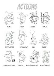 English worksheet: Actions with Winnie - the- Pooh