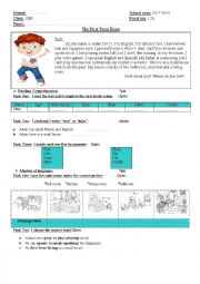 English worksheet: First term examination for 2MS