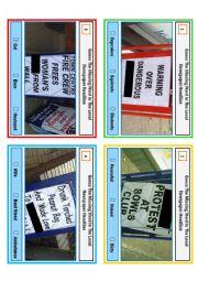 English worksheet: Complete the headlines 4