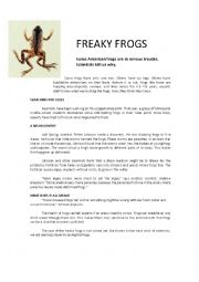 English worksheet: Freaky Frogs