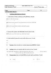 English worksheet: Mid-term-test