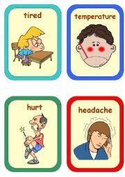 English Worksheet: HEALTH [Flashcards] Movers
