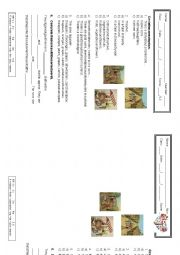 English Worksheet: The farmer and his sons - Storytelling