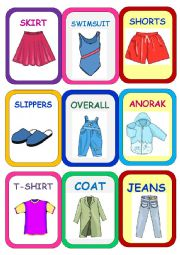 English Worksheet: Clothes Super Memory Game 2