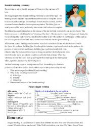 English Worksheet: wedding ceremony in Kazakhstan