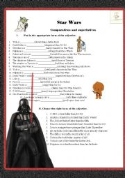 Star wars comparatives and superlatives