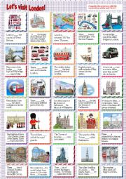English worksheet: Let´s visit London