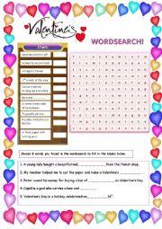 Valentine´s Wordsearch