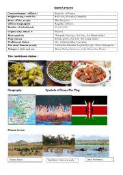 English Worksheet: KENYA FACTS