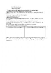 English Worksheet: writing about internet shopping