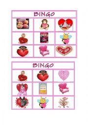 English Worksheet: Valentines Long E Activity Set - Bingo