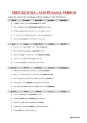Prepositional and phrasal verbs