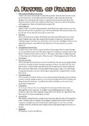 English Worksheet: A Fistful of Fillers