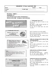 PET exam worksheets