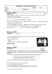 English Worksheet: 9th grade test Pet for school 3rd part