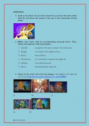 English Worksheet: The beauty and the Beast