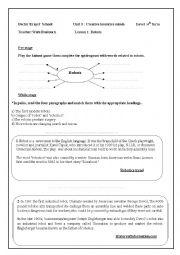 English Worksheet: lesson 1 :robots