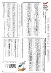 English Worksheet: revision: 8th form