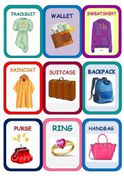 English Worksheet: Clothes Super Memory Game 4