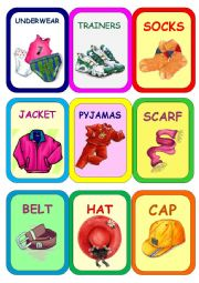 English Worksheet: Clothes Super Memory Game 5