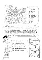 English worksheet: My toys
