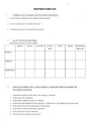 English Worksheet: Brighton and weather 2
