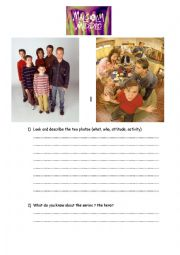 English Worksheet: Characters in Malcolm in the Middle