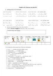 English worksheet: Have you ever...?/Basic irregular verbs (Time filler)1