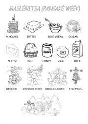 English Worksheet: Pancake week