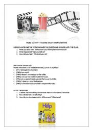 English Worksheet: The help - movie activity (warm up about discrimination)