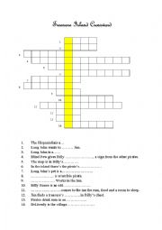 English Worksheet: Treasure Island crossword