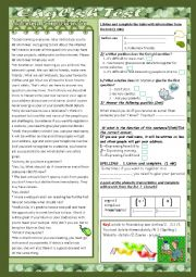 English Worksheet: The internet and other Services: Mid Semester2 Test N°1 : 2 parts: Listening + Language(with Key)