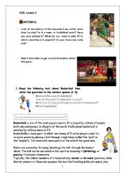 English Worksheet: Basketball