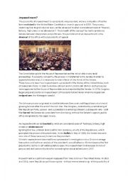 English Worksheet: Impeachment?