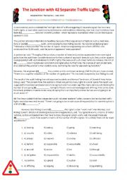 English Worksheet: Traffic Light FCE Reading - Debate - Traffic Stop Role-Play