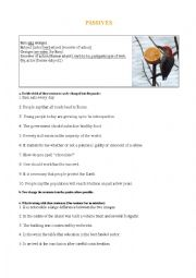 English Worksheet: Passives - Common mistakes