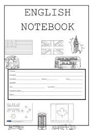 English Worksheet: ENGLISH NOTEBOOK COVER