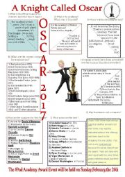 English Worksheet: A Knight Called Oscar