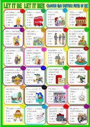 English Worksheet: Let it be! Be four young learners
