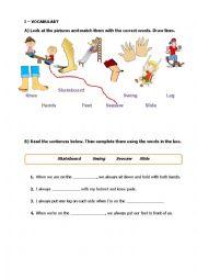 English Worksheet: Outdoor Activities / Playground Toys