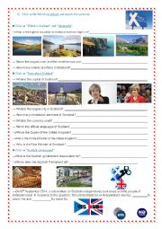 English Worksheet: Scotland - Webquest part 2