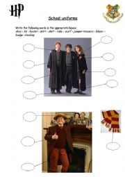English Worksheet: school uniforms