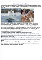 English Worksheet: Epiphany in Russia