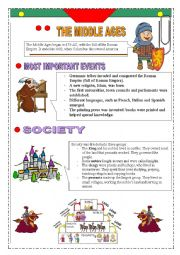 English Worksheet: Middle Ages