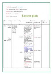 english lesson plan for first year Suggested lesson plan for day 1 first a list of the files to be discussed in the article below: in training seminars i always tell teachers of english as a second language to keep in mind what their own reaction would be.