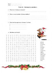 Christmas in Australia Worksheet
