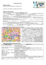 Notting Hill Movie Complete Worksheet on the whole film